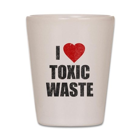 I Love [Heart] Toxic Waste Shot Glass