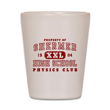 Shermer High Physics Club Shot Glass