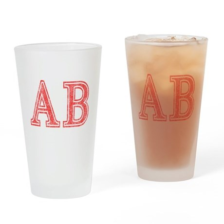 Alpha Beta Drinking Glass