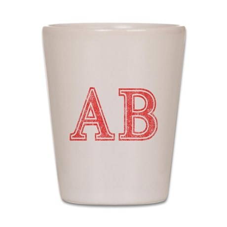 Alpha Beta Shot Glass