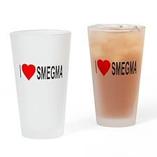I Love Smegma Pint Glass