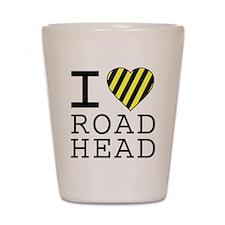 I Love Road Head Shot Glass