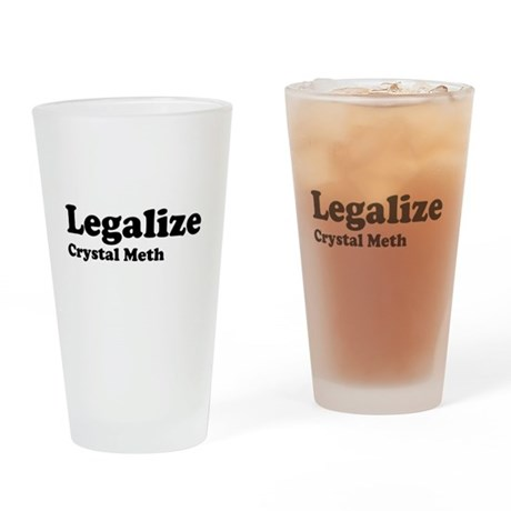 I Love Crystal Meth Pint Glass
