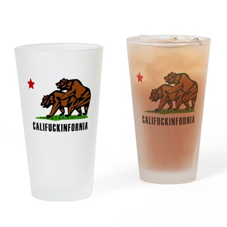 Califuckinfornia Pint Glass
