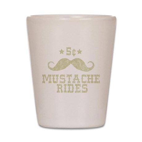 5¢ Mustache Rides Shot Glass