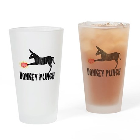 Donkey Punch Pint Glass