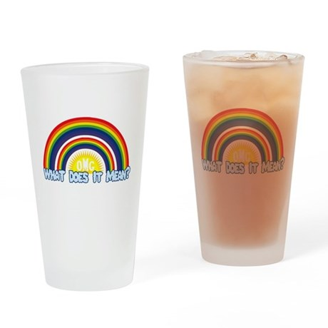 Double Rainbow Pint Glass