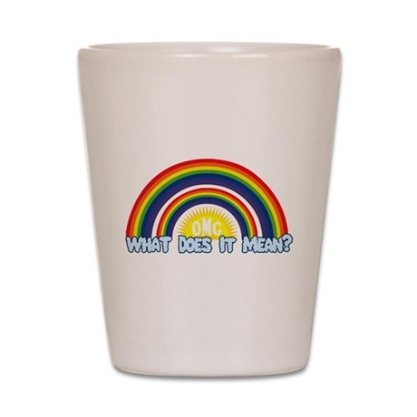Double Rainbow Shot Glass