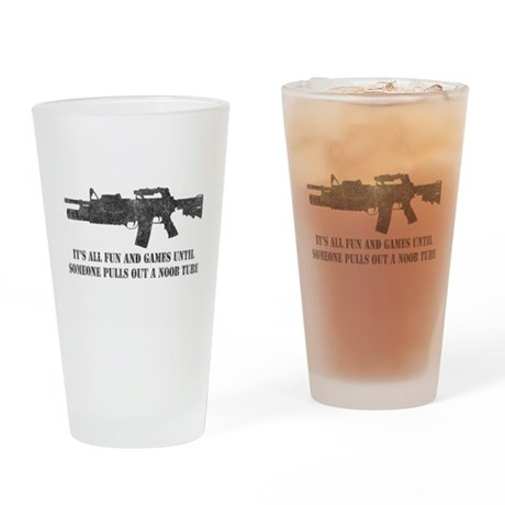 Fun and Games Noob Tube Pint Glass