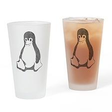Linux Penguin Pint Glass