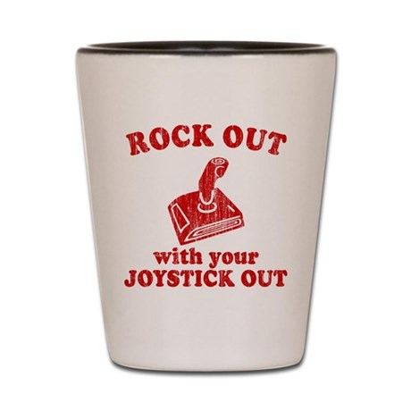 Rock Out With Your Joystick O Shot Glass