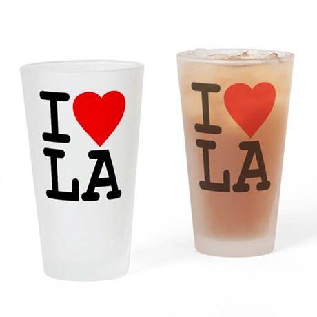 I Love LA Pint Glass