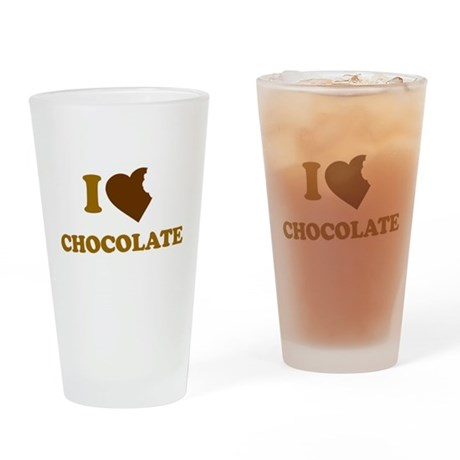 I Love [Heart] Chocolate Pint Glass