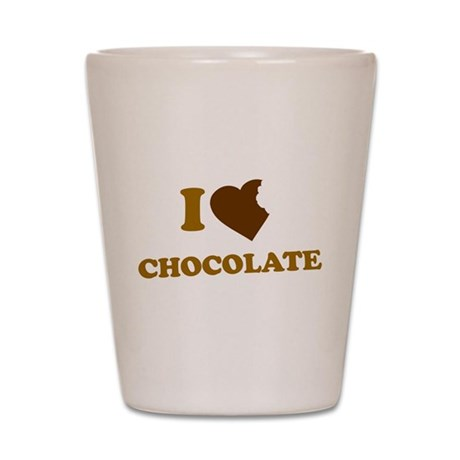 I Love [Heart] Chocolate Shot Glass