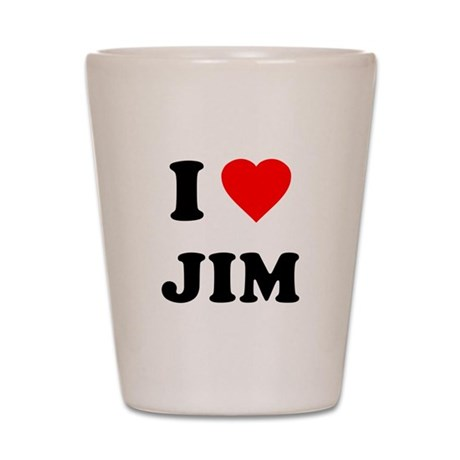 I Love Jim Shot Glass