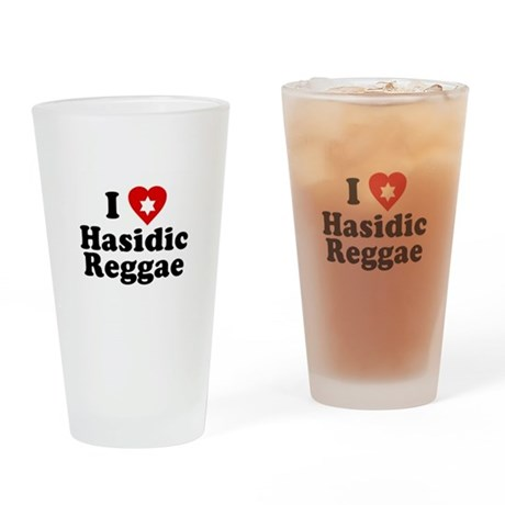 I Love [heart] Hasidic Reggae Pint Glass