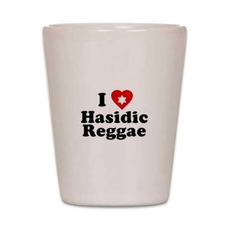 I Love [heart] Hasidic Reggae Shot Glass