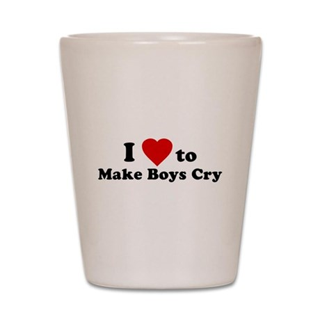I Love [Heart] to Make Boys C Shot Glass