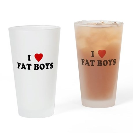 I Love [Heart] Fat Boys Pint Glass