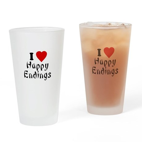 I Love [Heart] Happy Endings Pint Glass