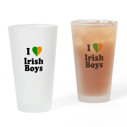 I Love Irish Boys Pint Glass