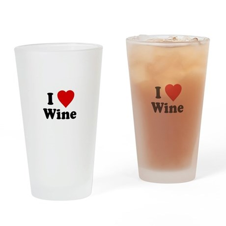I Love [Heart] Wine Pint Glass