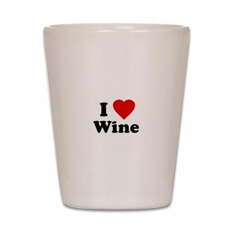 I Love [Heart] Wine Shot Glass