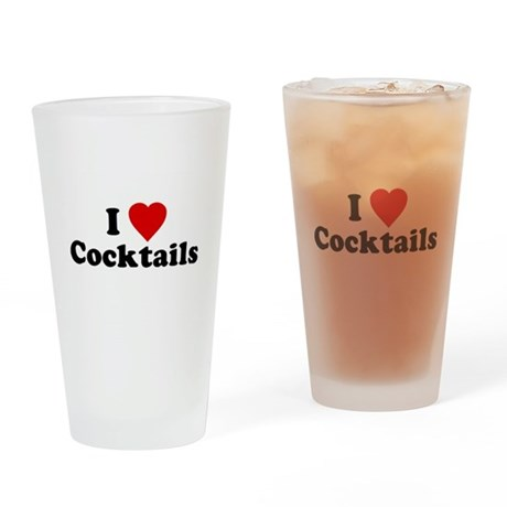 I Love [Heart] Cocktails Pint Glass