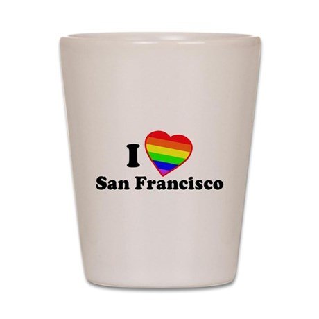 I Love [Heart] San Francisco Shot Glass