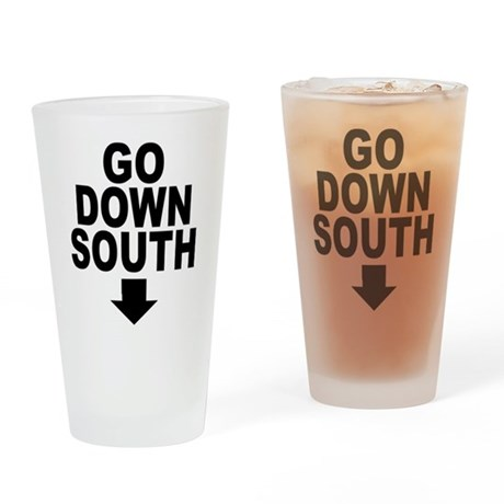 Go Down South ↓ Pint Glass