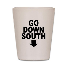 Go Down South ↓ Shot Glass