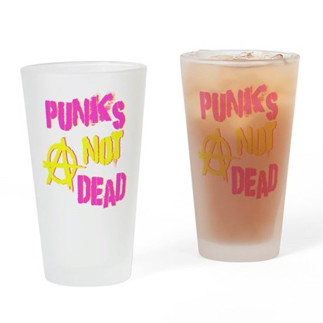 Punks Not Dead Pint Glass