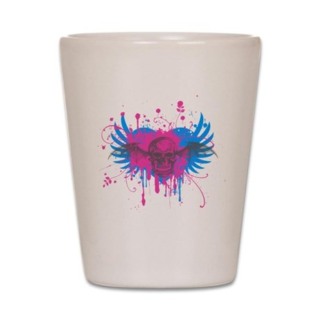 Splatter Skull Shot Glass