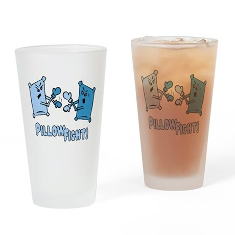 Pillow Fight Pint Glass