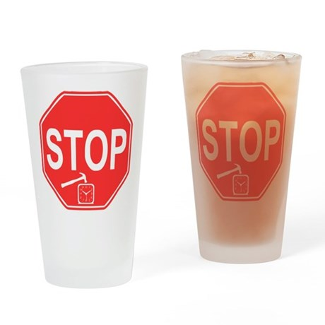 Stop! Hammer Time! Pint Glass