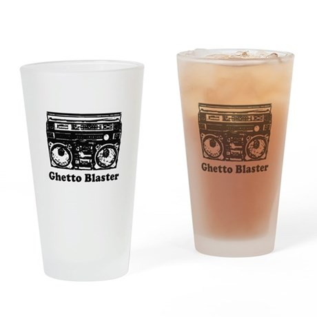 Ghetto Blaster Pint Glass