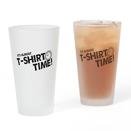 T-Shirt Time Pint Glass