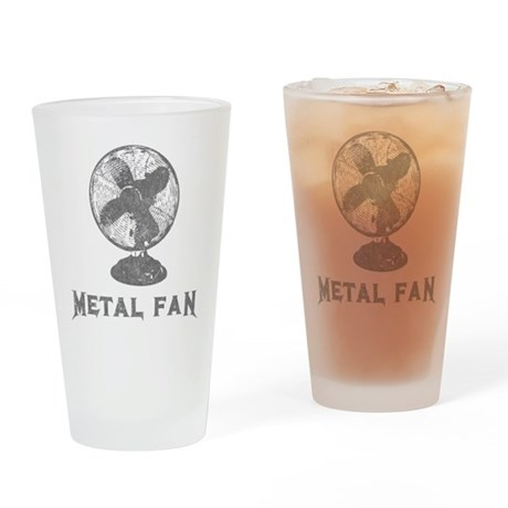 Metal Fan Pint Glass