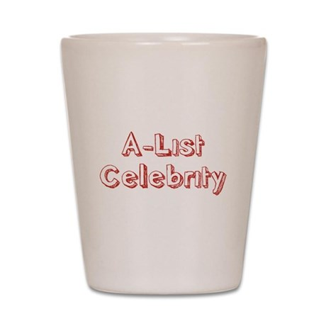 A-List Celebrity Shot Glass