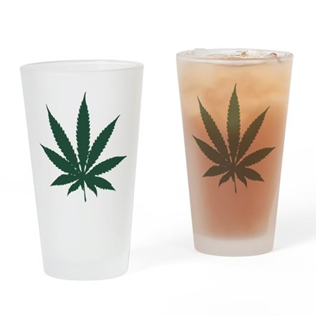 Cannabis Leaf Pint Glass