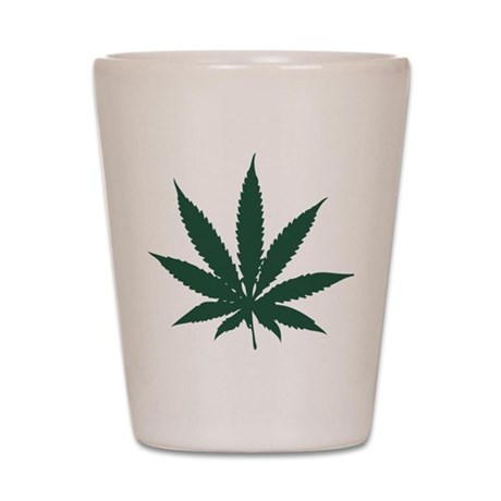 Cannabis Leaf Shot Glass