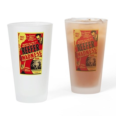 Vintage Reefer Madness Pint Glass