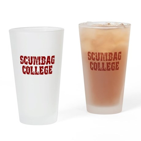Scumbag College Pint Glass