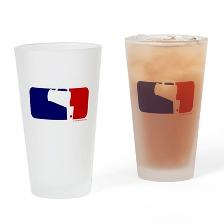 Beer Pong League Logo Pint Glass