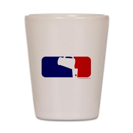 Beer Pong League Logo Shot Glass