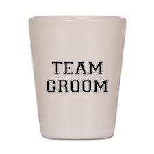 Team Groom Shot Glass