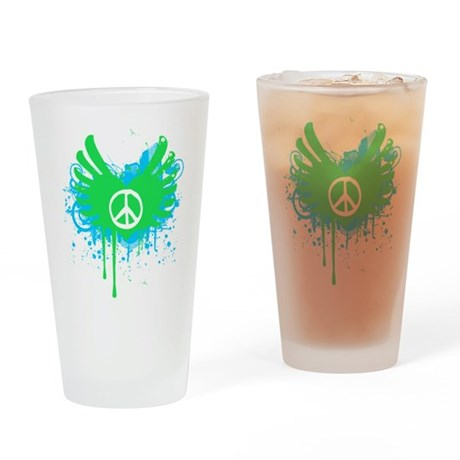 Peace and Love Pint Glass