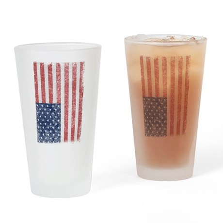 Distressed American Flag Pint Glass