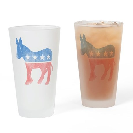 Democratic Donkey Pint Glass
