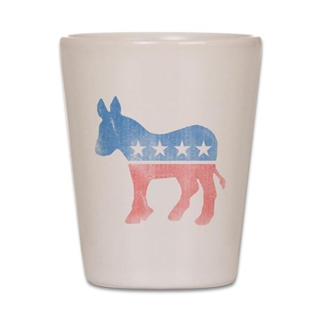 Democratic Donkey Shot Glass